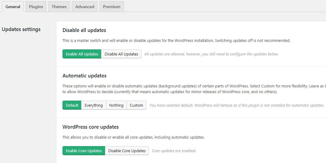 Easy Updates Manager announce new Premium release